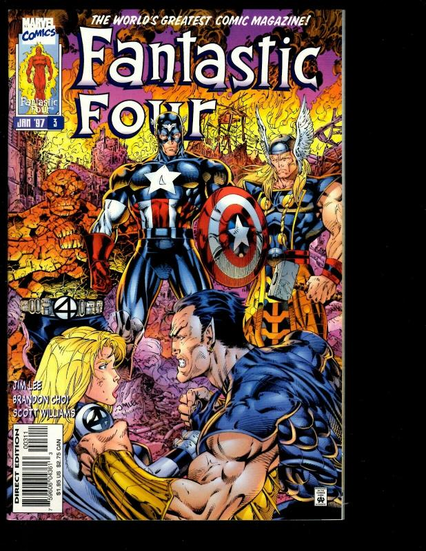 Lot of 11 Fantastic Four Marvel Comics # 1 2 3 4 5 6 7 8 9 10 11  JF26