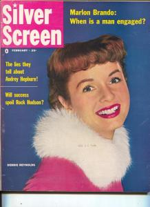 Debbie Reynolds-Audrey Hepburn-June Allyson-Rock Hudson-Feb-1956