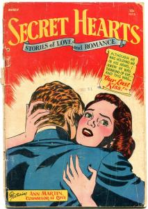SECRET HEARTS #8 1952-DC ROMANCE-NICE & RARE-GIRLS! G