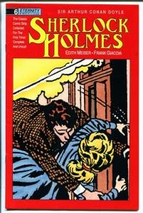 Sherlock Holmes #6 1988-Eternity-Conan Doyle-newspaper strip reprint-FN/VF