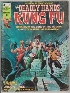 DEADLY HANDS OF KUNG FU #16 SHANG CHI / JHOON RHEE - TAE KWON DO 1975 MARVEL