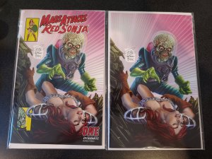MARS ATTACKS RED SONJA #1 RON LEARY HOMAGE VARIANT SET DYNAMITE  COMICS