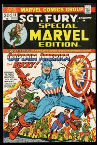 Special Marvel Edition #11 NM- 9.2 Captain America Sgt. Fury #13 Reprint!