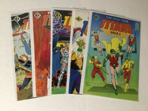 Official Dc Index Teen Titans 1-5 1 2 3 4 5 Lot Nm Near Mint Dc