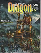 TSR DRAGON MAGAZINE #219 VF+