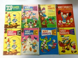 Silver + Bronze Age Gold Key Disney Comics + Stories Lot 55 Different, Very Good