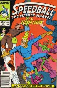 Speedball #3 (Newsstand) FN; Marvel   save on shipping - details inside