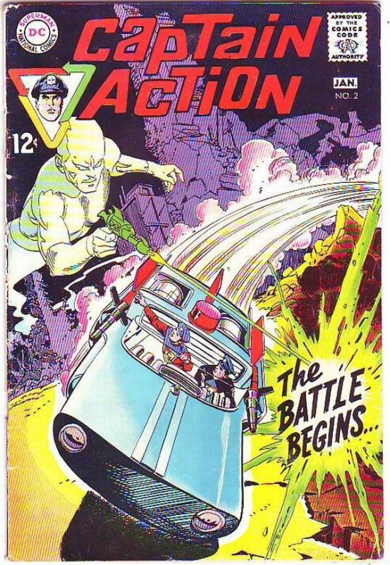 Captain Action #2 (Jan-69) FN Mid-Grade Captain Action