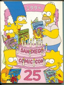 San Diego Comic Convention Program Book 1994-SDCC-Simpsons cover-art-pix-FN
