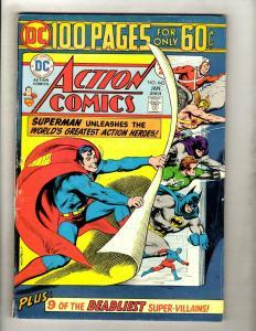 Lot Of 6 Action Comics Feat. Superman # 443 444 445 446 447 448 Batman Flash GK5