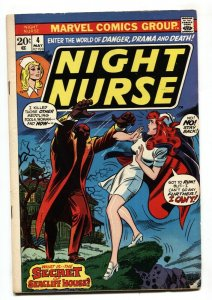 NIGHT NURSE #4 1973-MARVEL BRONZE AGE-RARE last issue FN