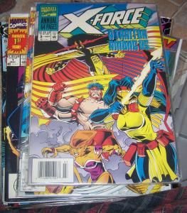 X FORCE ANNUAL # 3  1994 CABLE  NEW MUTANTS  SUNSPOT