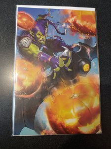 AMAZING SPIDER-MAN #8 BATTLE LINES VIRGIN COVER 1 ST PRINT GREEN GOBLIN