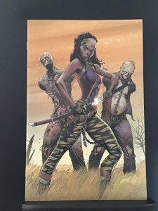 The Walking Dead #19 15th Anniversary virgin exclusive J. Scott Campbell