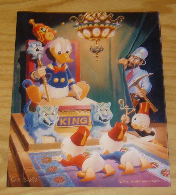 Carl Barks photo print - 8 x 10 - ancient persia (from painting #6) donald
