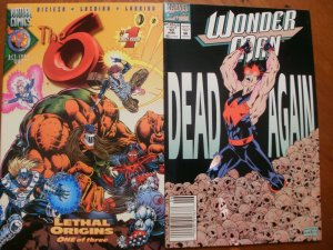 2 Near-Mint Comic:Virtual Comics THE SIX #1 (1996) & Marvel WONDER MAN #10 (1992