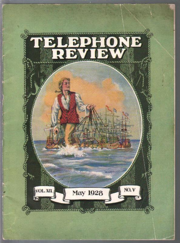 Telephone Review 5/1928-trade journal for phone company-historic-VG