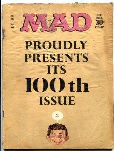 MAD Magazine #100-1966-Mingo-Drucker-Ricard-Berg-low grade F/G