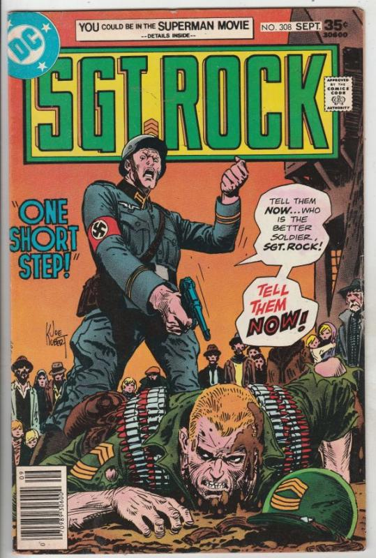 Sgt. Rock #308 (Sep-77) FN/VF Mid-High-Grade Sgt. Rock, Easy Co.