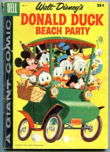 Donald Duck Beach Party #5 1958- Dell Giant- Disney G-