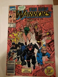 THE NEW WARRIORS #1 VF/NM 1990 Marvel Comics - Newsstand Edition