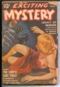 Exciting Mystery #1 10/1942-Thrilling-1st issue-Good Girl Art cover-weird men...