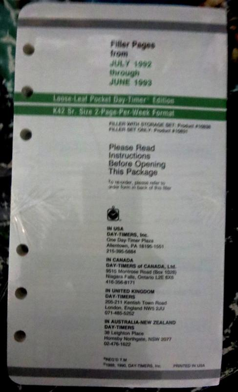 Epic Comics 10th Anniversary Daily Planner July 1992-June 1993 UNUSED RARE NMIB