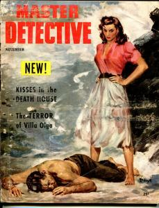 Master Detective 11/1953-MacFadden-Good Girl Art -Barye Phillips-Champion-FR