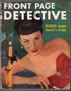 Front Page Detective-2/1949-Dell-provocative woman cover-lurid pulp thrills-G