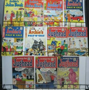 ARCHIE FUN-TIME SET! 11 BOOKS, average G-VG. Joke Book, Pals n Gals
