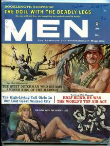 Men Magazine January 1962-CALL GIRLS-MARINES-WAR-WWII-SPIES-COLD WAR FN