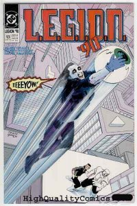 LEGION #13, NM+, Alan Grant, Mark McKenna, 1990, Dox, Lobo, Eyeball