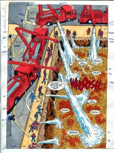 Elementals #9 Page #17 Original Color Guide Ken Feduniewicz