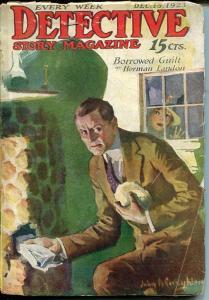 DETECTIVE STORY MAGAZINE-DEC 15 1923-LUEHRMANN-CHICHESTER-LANDON-good G