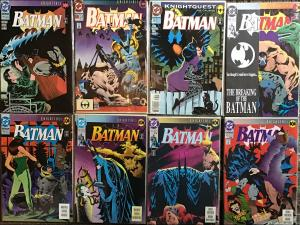 BATMAN DC 7 KNIGHTQUEST ISSUES #492-495 497-500 NM 1 KNIGHTFALL#503  8 BOOK LOT
