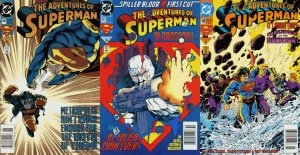 Adventures of Superman #506-508 Newsstand Covers (1987-2006) DC Comics - 3 Co...