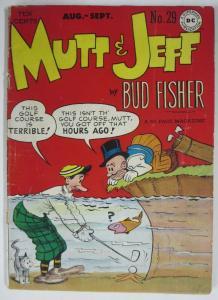 MUTT & JEFF  #29 (DC Comics, 6/1949) POOR (PR) Bud Fisher! Detached Cover