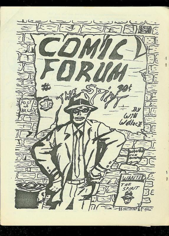 COMIC FORUM FANZINE #7 1969-EARL BLAIR-HOUSTON CON-RARE FN