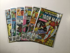 Iron Man 119 123 130 132 133 Lot Run Set Very Fine Vf 8.0 Marvel