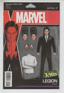 UNCANNY X-MEN (2018 MARVEL) #3 VARIANT CHRISTOPHER ACTION FIGURE NM