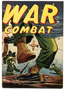 WAR COMBAT #2-1952-LAND MINE HORROR COVER BY GEORGE TUSKA-RARE ATLAS VIOLENCE