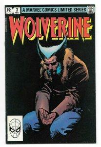 Wolverine #3 VF Limited Series Marvel Comic Book X-Men Frank Miller Art 1982