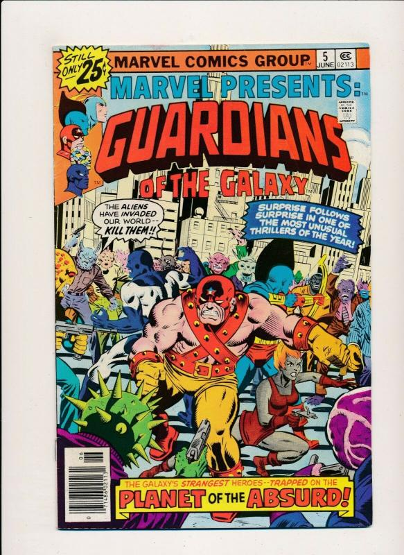 Marvel Presents GUARDIANS OF THE GALAXY #5 JUNE 1976 FINE (PF389)
