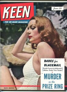 KEEN #1-JUNE 1950-HAZEL BROOKS-YVONNE DE CARLO-SOUTHERN STATES-vf