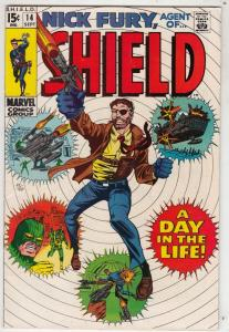 Nick Fury Agent of S.H.I.E.L.D. #14 (Sep-69) VF+ Mid-High-Grade Nick Fury, S....