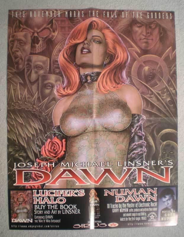 DAWN Promo Poster, Joseph Linsner, 17x22, Unused, more Promos in store