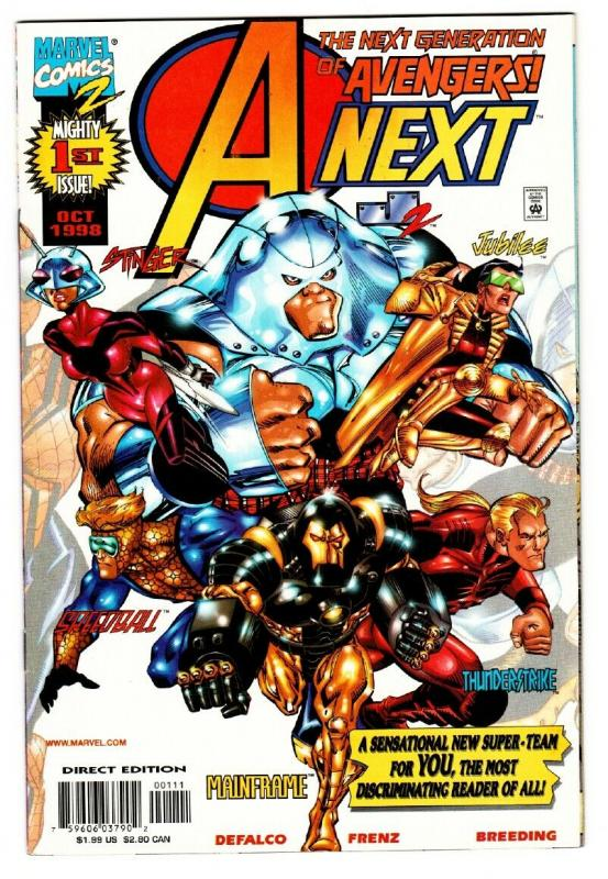 A-NEXT #1 comic book 1998 FIRST Stinger and Mainframe Marvel