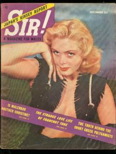 SIR! MAGAZINE DEC 1953-GREEK POLYGAMY-SPICY COVER-PULP FN