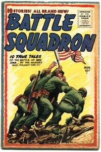 BATTLE SQUADRON #3-1955-AMERICAN FLAG COVER-US MARINES ON IWO JIMA--WW II
