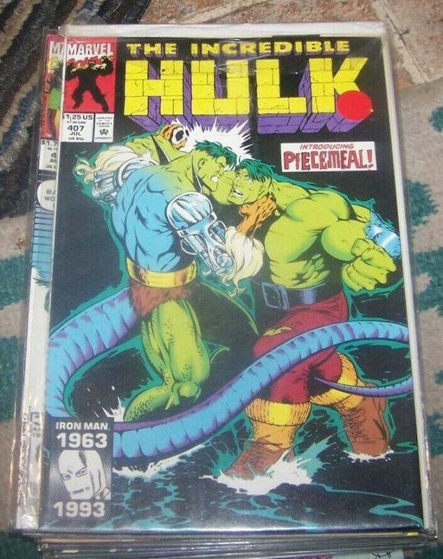 Incredible Hulk  # 407 jul 1993 Marvel   piecemeal loch ness monster